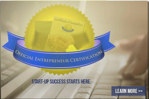 official entrepreneur certification image
