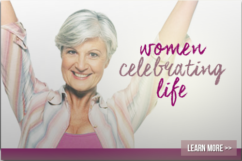 women celebrating life image