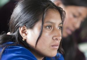 Ecuadorian girl attends school